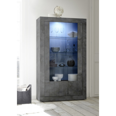 Fiorano display cabinet in oxide finish