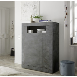 Fiorano 110cm highboard in oxide finish