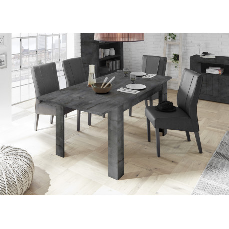 Fiorano extendable dining table in oxide finish