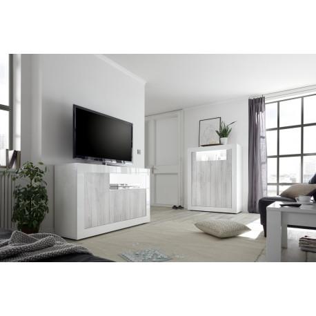 Fiorano II 138cm sideboard in white and pine oak