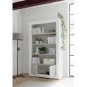 Fiorano bookshelf in white gloss and pine oak