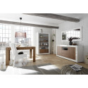 Fiorano 184cm sideboard in white gloss and walnut
