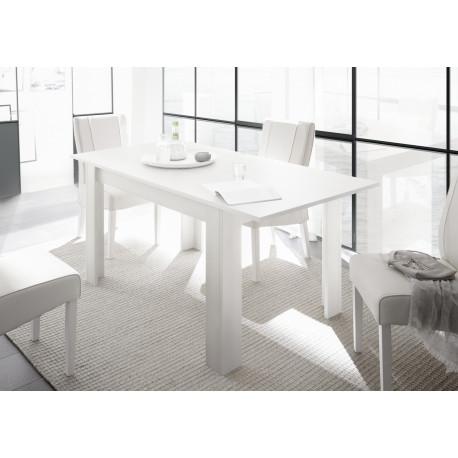 Arden extendable dining table in matt white