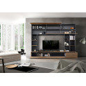 Prato III modern TV wall set in oxide and walnut finish