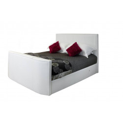 Leather bed frame in Double size-Stock Clearance