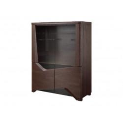 Rimini assembled large solid wood display cabinet
