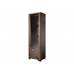 Rimini assembled narrow solid wood display cabinet