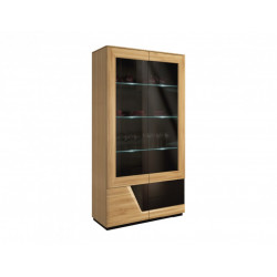 Smart assembled solid wood display cabinet