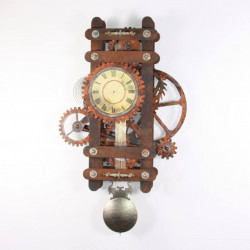 Amadeus industrial steampunk style Wall Clock