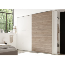 Diana red modern wardrobe with sliding doors