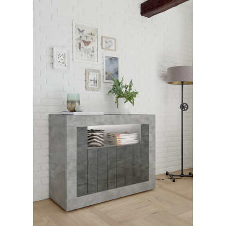Fiorano 110cm sideboard in beton and oxide finish