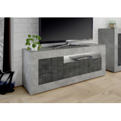 Fiorano 138cm TV unit in beton and oxide finish