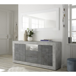 Fiorano 184cm sideboard in beton and oxide finish