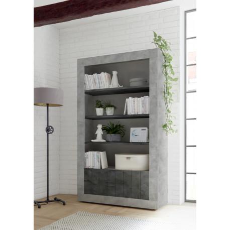 Fiorano bookshelf in beton and oxide finish