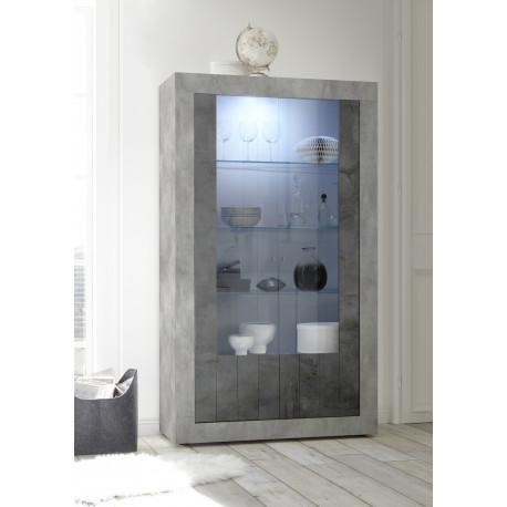 Fiorano display cabinet in beton and oxide finish