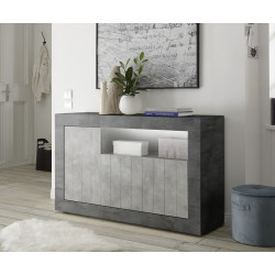 Fiorano 138cm sideboard in oxide and concrete finish