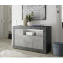 Fiorano 138cm sideboard in oxide and concrete finish