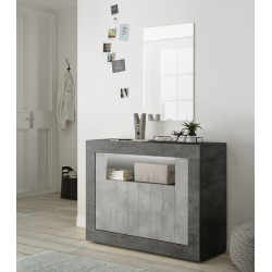 Fiorano 110cm sideboard in oxide and concrete finish