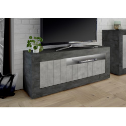 Fiorano 138cm TV unit in oxide and concrete finish