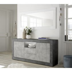 Fiorano 184cm sideboard in oxide and concrete finish