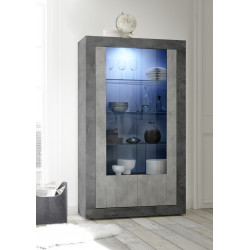 Fiorano display cabinet in oxide and concrete finish