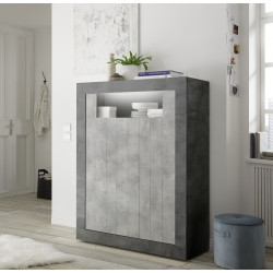 Fiorano 110cm highboard in oxide and concrete finish