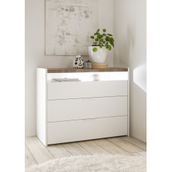 Amalti lacquered 3 drawers dresser