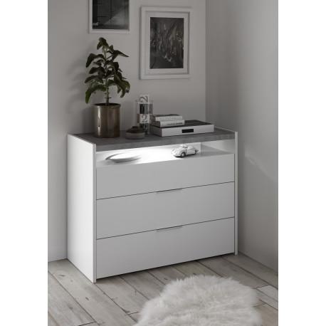 Amalti lacquered 3 drawers dresser