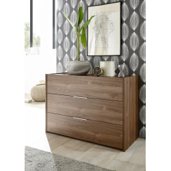 Amalti II walnut 3 drawers dresser