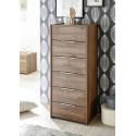 Amalti II walnut 6 drawers chest