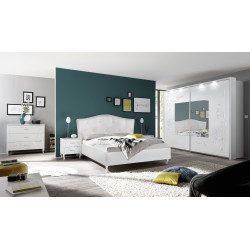 Gioia matt white sliding doors wardobe