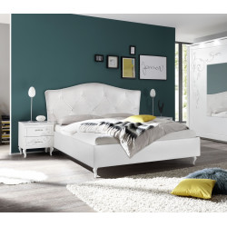 Gioia modern upholstered Italian bed with storage