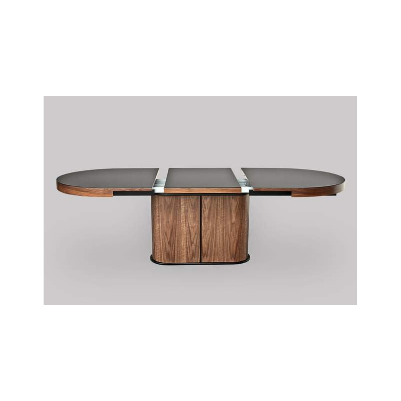 Bespoke Oval Extendable Dining Table With Glass Top Dining Tables