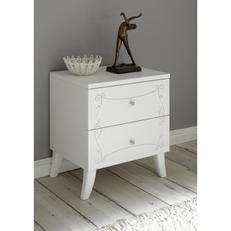 Soler set of two bedside cabinets with two drawers