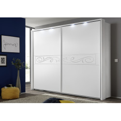 Elisir matt white sliding doors wardrobe
