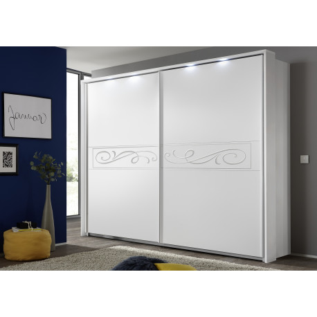 Elisir matt white sliding doors wardrobe