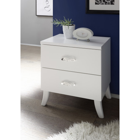 Elisir set of two bedside cabinets with two drawers