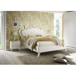 Cleopatra modern upholstered Italian bed in various sizes