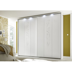 Cleopatra matt white sliding doors wardrobe