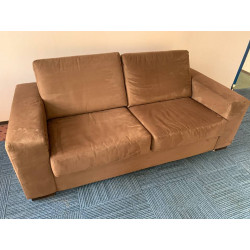 Two seater sofa brown suede