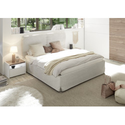 Amalti modern upholstered Italian bed in various sizes