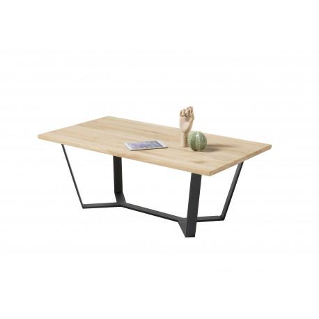 Lean coffee table in oiled oak