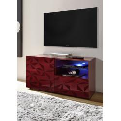 Prisma 121 cm red gloss decorative TV unit