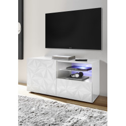 Prisma 181 cm white gloss decorative TV unit