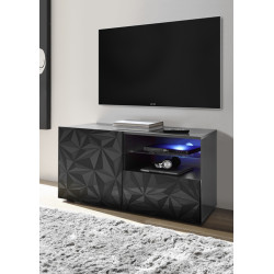 Prisma 121 cm grey gloss decorative TV unit