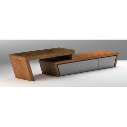Vector luxury TV Unit in various veneer finishes