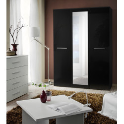Laser 3 door wardrobe with mirror