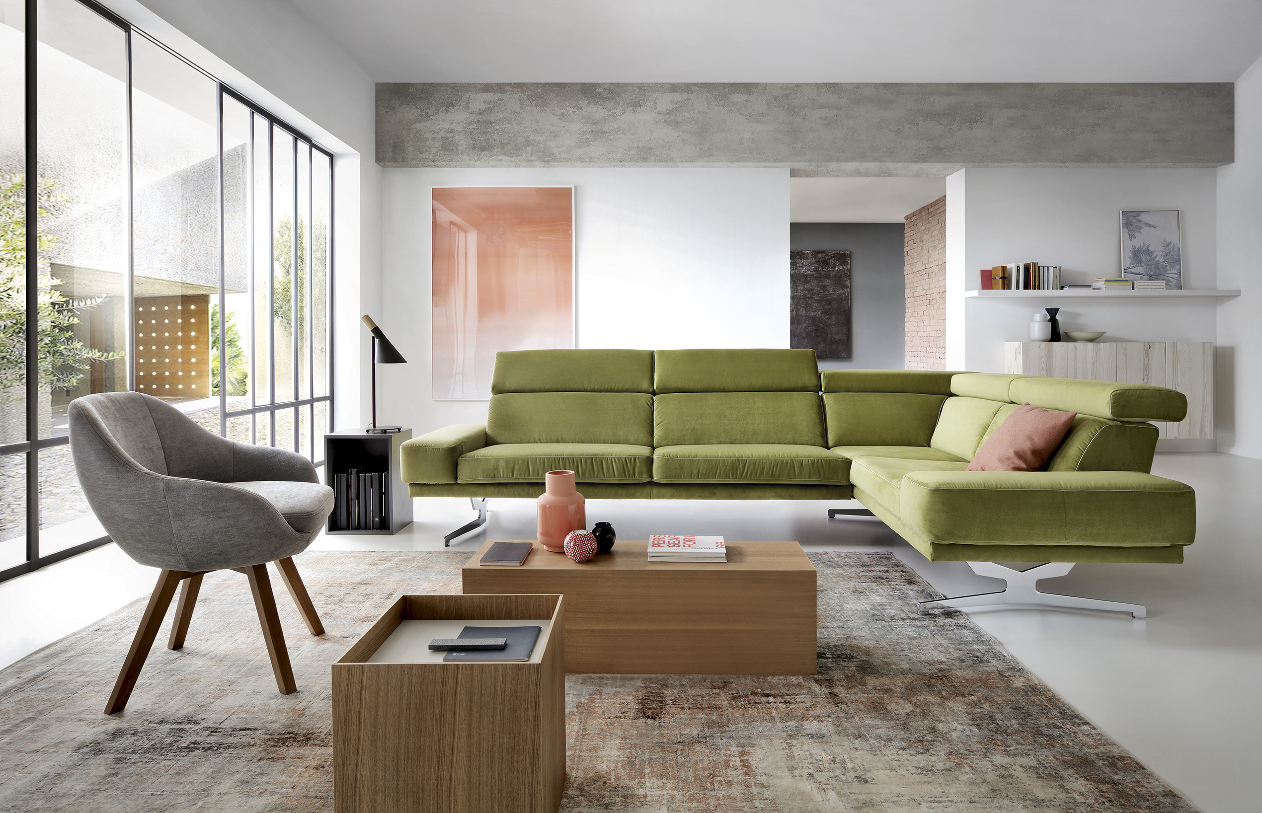 Magnificent Albano Modern Corner Sofa Home Interior And Landscaping Spoatsignezvosmurscom