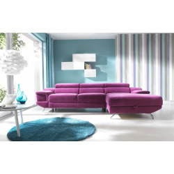 Coletto luxury corner sofa bed with ottoman