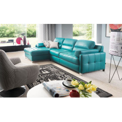 Fiorino II luxury corner sofa bed with ottoman